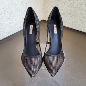 Black Mesh Guess Heels